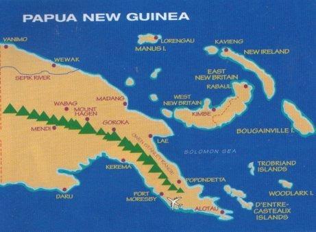 Папуа Нова Гвінея, карта