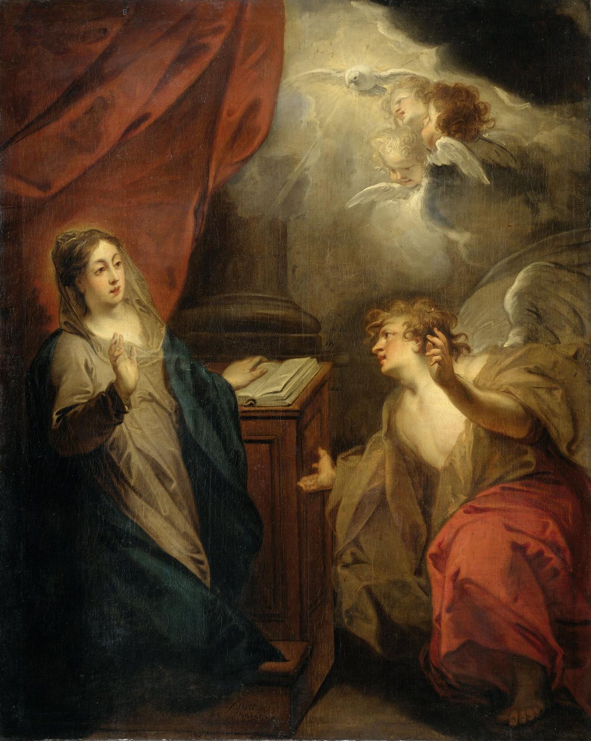 """""""Благовіщення Діві"""", Якоб де Віт, 1723 р., Голландія"""