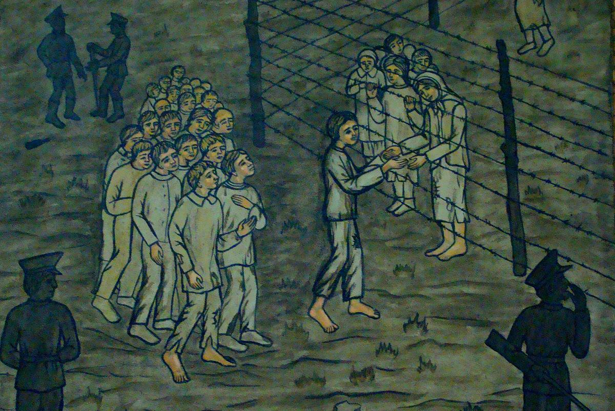 Фрагмент Хресної дороги у Каплиці мучеників на Гречанах