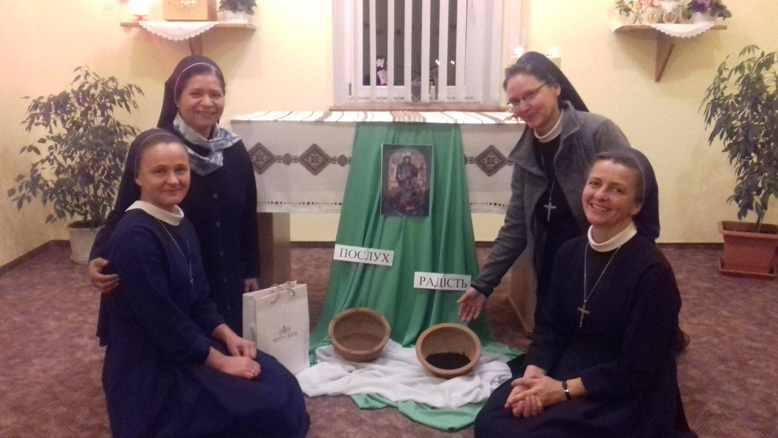 Візит сестри з Риму у сестер у Вербовці